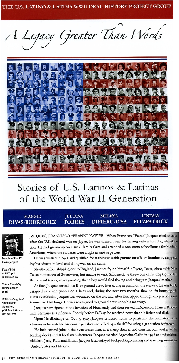 Link to: A Legacy Greater Than Words Stories of U.S. Latinos & Latinas of  the. World War II Generation